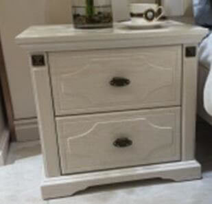 European Bedroom Furniture Bedroom Side Tables / White Bedside Cabinets