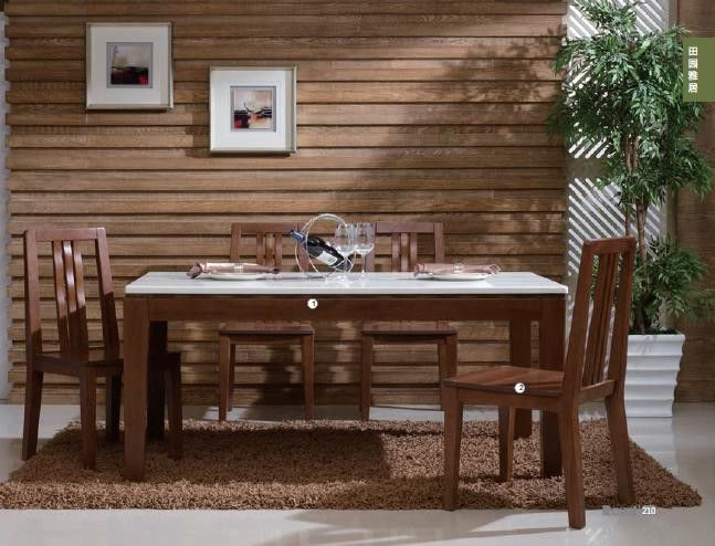 Melamine Finishing Contemporary Dining Room Furniture Non Toxic Material